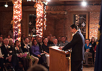 Inauguration ceremony for Mayor Edward Engler at the Belknap Mill.  Karen Bobotas/for the Laconia Daily Sun