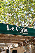 exterior of le cafe, outdoor restaurant, Saint-Tropez, France