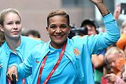 Aankomst  bij de openingswedstrijd van WEURO2017, het EK voetbal vrouwen gehouden in de Stadion Galgenwaard Utrecht<br /> <br /> Op de foto:  Shanice van de Sanden