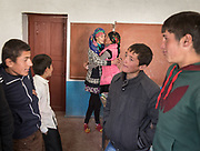 At the school. In Roshorv village.