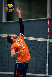 Wessel Keemink #2 of Netherlands in action during the Olaf Ratterman Memorial match between Netherlands vs. Eredivisie All Star team on May 03, 2021 in Barneveld.