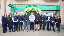 Edinburgh rugby players Ross Ford, Duncan Weir and Simon Berghan officially opened the new Specsavers store at 70 St John Road, Corstorphine, Edinburgh.