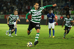 September 8, 2017 - Santa Maria Da Feira, Aveiro, Portugal - Sporting's Netherlands forward Bas Dost scores on a penalty kick during the Premier League 2017/18 match between CD Feirense and Sporting CP, at Marcolino de Castro Stadium in Santa Maria da Feira on September 8, 2017. (Credit Image: © Dpi/NurPhoto via ZUMA Press)