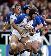 Leicester, England UK., 9th October 2004,  Zurich Premiership Rugby, Leicester Tigers vs Bath Rugby, Welford Road,<br /> [Mandatory Credit: Peter Spurrier/Intersport Images],<br /> Danny Grewcock