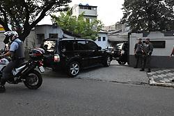 May 13, 2019 - SãO Paulo, Brazil - SÃO PAULO, SP - 13.05.2019: EX PRESIDENTE MICHEL TEMER É TRANSFERIDO - Michel Temer, former President of Brazil, is transferred on Monday afternoon, (13) from PF headquarters to the SHOCK Policing Command in São Paulo. In the photo The car with Michel Temer arriving at the command of Police of SHOCK. (Credit Image: © Roberto Casimiro/Fotoarena via ZUMA Press)