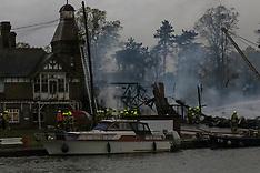 River Thames blaze