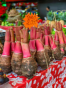 Taro, Kalo, Municipal, Market, Papeete, Tahiti, Society Islands, French Polynesia; South Pacific