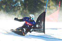 Igor Sluev (RUS) during parallel giant slalom FIS Snowboard Alpine world championships 2021 on 1st of March 2021 on Rogla, Slovenia, Slovenia. Photo by Grega Valancic / Sportida