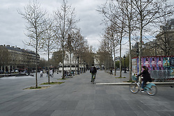 A view the empty city, in Paris, France, on April 03, 2020, during the covid-19 emergency lockdown. Photo by Pierrick Villette/Avenir Pictures/ABACAPRESS.COM
