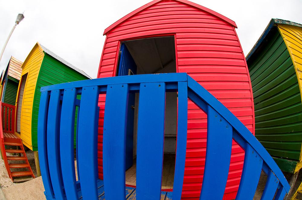 Colorful beach huts, St. James Beach, False Bay (near Cape Town), South Africa