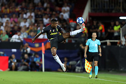September 19, 2018 - Valencia, Spain - Alex Sandro of Juventus FC during the UEFA Champions League, Group H football match between Valencia CF and Juventus FC on September 19, 2018 at Mestalla stadium in Valencia, Spain (Credit Image: © Manuel Blondeau via ZUMA Wire)