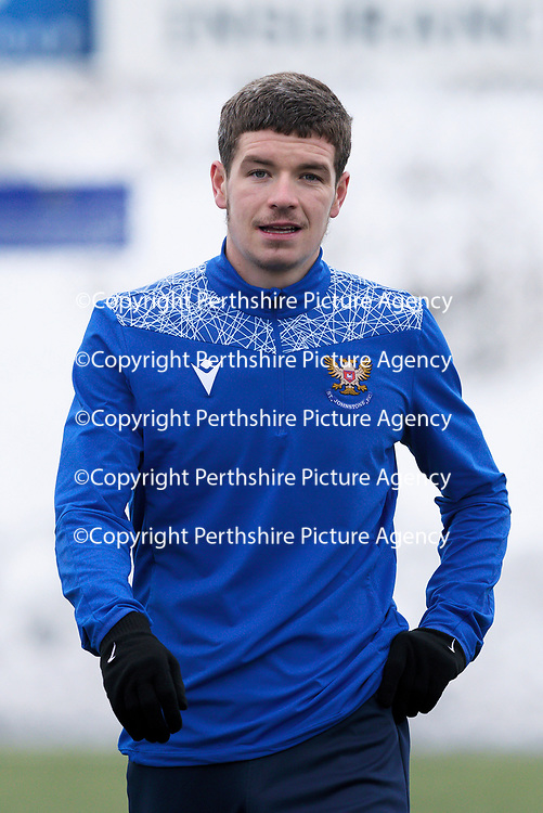 St Johnstone Training...   15.01.21<br />Trialist Charlie Gilmour pictured during training at McDiarmid Park <br />Picture by Graeme Hart.<br />Copyright Perthshire Picture Agency<br />Tel: 01738 623350  Mobile: 07990 594431