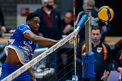 Jerome Cross of Lycurgus in action during the second final league match between Amysoft Lycurgus vs. Draisma Dynamo on April 24, 2021 in Groningen.