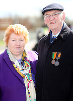 Easter Monday Ashbourne. Mary Walsh-Seaver and Tom Seaver.  Picture; GERRY  MOONEY.  28/3/16