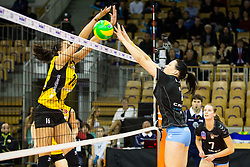 26-11-2015 SLO: Champions League Calcit Ljubljana - VakifBank Istanbul, Ljubljana<br /> Milena Rasic of VakifBank Istanbul and Tina Grudina of Calcit Ljubljana<br /> <br /> ***NETHERLANDS ONLY***