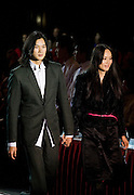 Clothes designers at the opening show of China Fashion Week in the Beijing Hotel, China
