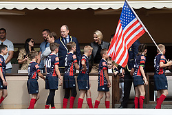 TABLOID OUT WEB & PRINT - Prince Albert II of Monaco, Princess Charlene of Monaco with Crown Prince Jacques of Monaco, Princess Gabriella of Monaco and Gareth Wittstock attend the Sainte Devote Rugby Tournament at Louis II Stadium in Monaco, on May 11, 2019. Photo by David Niviere/ABACAPRESS.COM
