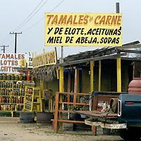 North America, Latin America, Mexico, Baja. Roadside tamale stands.