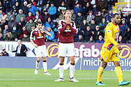 Jeff Hendrick of Burnley reacts to missing a chance to score. Premier League match, Burnley v Crystal Palace at Turf Moor in Burnley , Lancs on Saturday 5th November 2016.<br /> pic by Chris Stading, Andrew Orchard sports photography.
