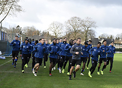 December 10, 2018 - Bruges, Belgique - BRUGGE, DECEMBER 10 : illustration picture of football team running with Ruud Vormer midfielder of Club Brugge and teammates pictured during practice session the day before the UEFA Champions League group A match between Club Brugge KV and Atletico Madrid on December 10, 2018 in Brugge, 10/12/2018 (Credit Image: © Panoramic via ZUMA Press)