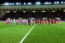 Bristol City players and mascot shakes hands with Brighton Albion players before the game - Mandatory by-line: Dougie Allward/JMP - 05/11/2016 - FOOTBALL - Ashton Gate - Bristol, England - Bristol City v Brighton and Hove Albion - Sky Bet Championship
