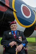 Fred Milward, 90, 9 Para. Veterans of the Parachute Regiment at the time of D Day, in the second world war, visit 16 Air Assault Brigade who will be carrying out a drop to commemorate the 70th anniversary next week. Colchester, UK.