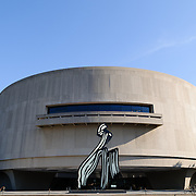 Smithsonian Institution's Hirshhorn Museum and Sculpture Garden. The sculpture is Brushstroke by Roy Lichtenstein.