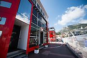 May 25-29, 2016: Monaco Grand Prix. Ferrari motorhome