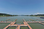 Chungju, South Korea.  GBR W8+. Bow Beth RODFORD Melanie WILSON, Caragh MCMURTY, Louisa REEVE, Jessica EDDIE, Zoe LEE, Katie GREVES, Oliva CARNEGIE-BROWN and cox Zoe DE TOLEDO, move away from the start on the second day of the 2013 FISA World Rowing Championships, Tangeum Lake International Regatta Course. 03:38:05  Monday  26/08/2013 [Mandatory Credit. Peter Spurrier/Intersport Images]