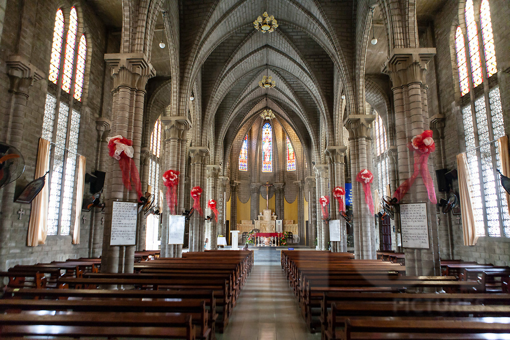Choir in the Cathedral of Nha Trang, Vietnam, Southeast Asia