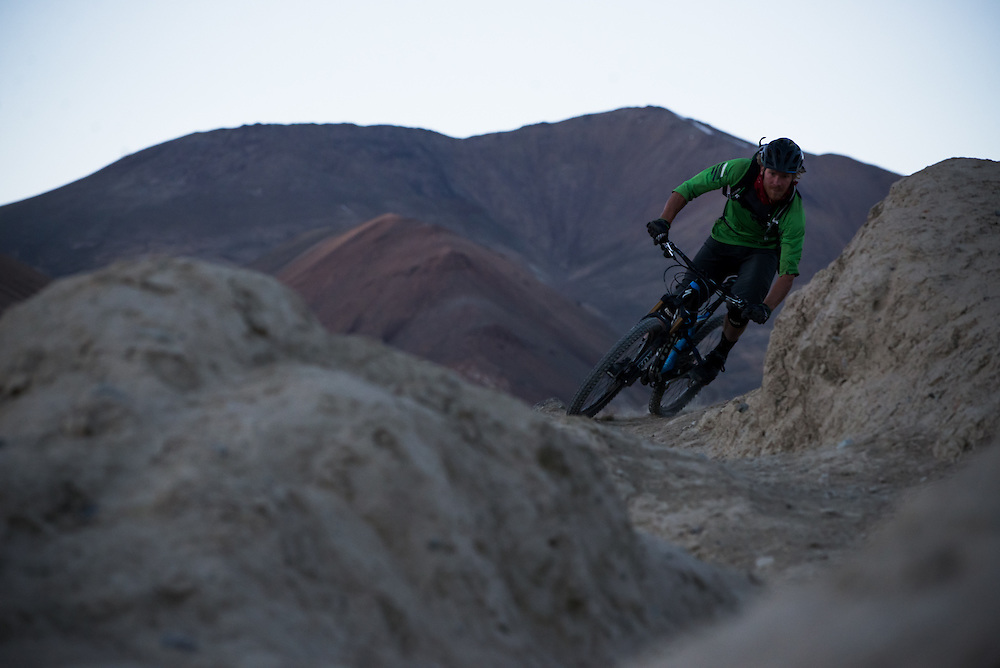 After 10 hours of riding this day, Matt Hunter still had energy to shoot more photos when the sun had set.