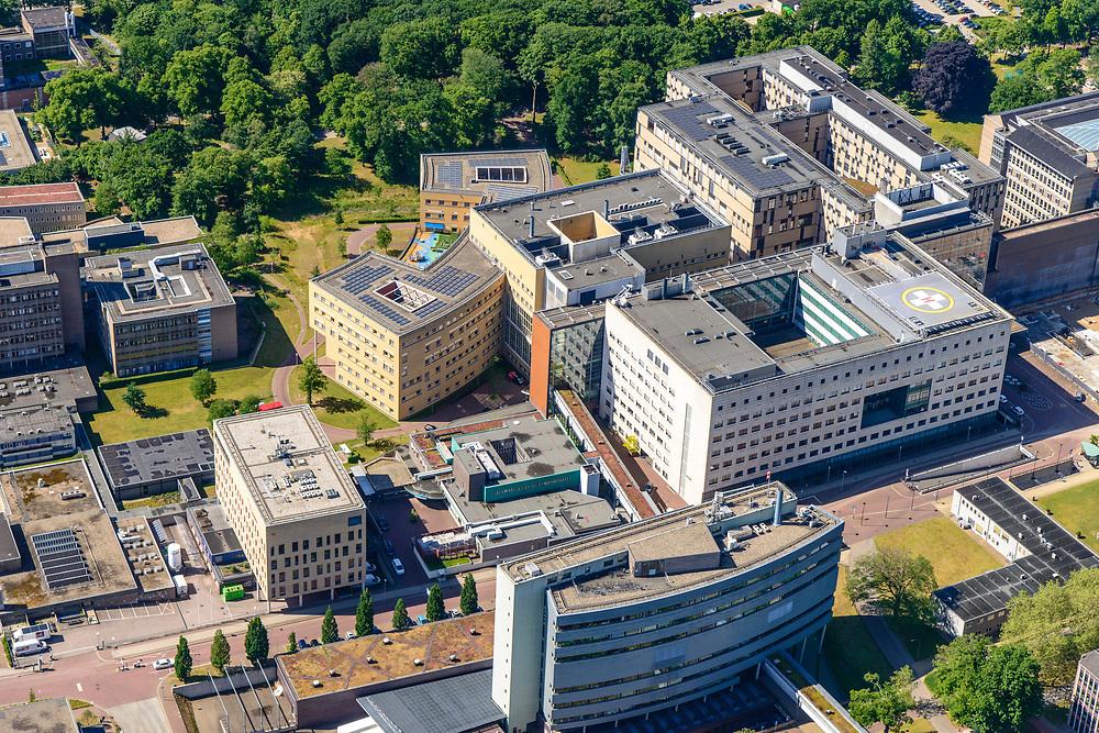 Nederland, Gelderland, Nijmegen, 29-05-2019; Radboudumc, Radboud Universitair Centrum, Academisch Ziekenhuis.<br /> Radboudumc, Radboud University Center, Academic Hospital.<br /> <br /> luchtfoto (toeslag op standard tarieven);<br /> aerial photo (additional fee required);<br /> copyright foto/photo Siebe Swart