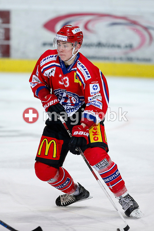 Rapperswil-Jona Lakers forward Dario Turrin is pictured during an Elite B Regular Season ice hockey game between Rapperswil-Jona Lakers and EHC Winterthur held at the SGKB Arena in Rapperswil, Switzerland, Friday, Jan. 20, 2017. (Photo by Patrick B. Kraemer / MAGICPBK)