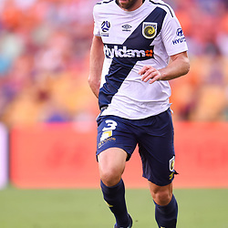 BRISBANE, AUSTRALIA - MARCH 31: Joshua Rose of the Mariners dribbles the ball during the Round 25 Hyundai A-League match between Brisbane Roar and Central Coast Mariners on March 31, 2018 in Brisbane, Australia. (Photo by Patrick Kearney / Brisbane Roar FC)