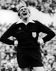 Referee Alan Robinson is told the world's funniest joke