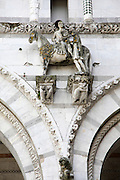 St Martin's Cathedral (Duomo di San Martino) Lucca, Tuscany, Italy. Close up details