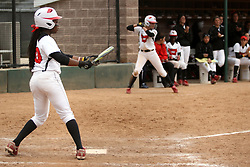 06 April 2013:  Nichelle Harrison during an NCAA Division 1 Missouri Valley Conference (MVC) women's softball game between the Drake Bulldogs and the Illinois State Redbirds on Marian Kneer Field in Normal IL