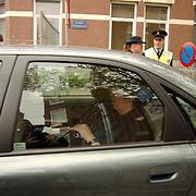 Begrafenis Pim Fortuyn, minister Els Borst en Jorritsma verlaten kerk achterzijde