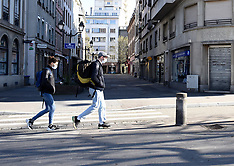 People wearing mask at the street - Strasbourg - 5 May 2020