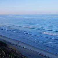 USA, California, Encinitas. Early morning at Beacon's Beach, Leucadia (Encinitas).