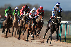 Horses go around the first bend in the Betway Casino Handicap at Southwell Racecourse.