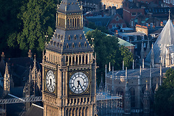 Elizabeth Tower, which houses Big Ben, at the House of Commons in Westminster, London, which will be silenced for four years next week as major conservation work is carried out.