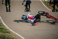 #373 (BLANC Renaud) SUI during practice at Round 9 of the 2019 UCI BMX Supercross World Cup in Santiago del Estero, Argentina