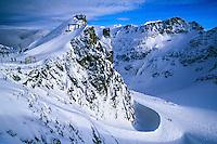 Blackcomb Glacier, Blackcomb Mountain, Whistler Blackcomb ski resort, British Columbia, Canada