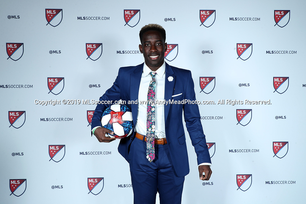 CHICAGO, IL - JANUARY 11: Akeem Ward was taken with the fourteenth overall pick by DC United. The MLS SuperDraft 2019 presented by adidas was held on January 11, 2019 at McCormick Place in Chicago, IL.