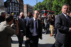 © Licensed to London News Pictures. 07/07/2020. London, UK. US actor Johnny Depp arrives at The High Court in Central London. Johnny Depp's libel trial against The Sun newspaper is due to take place over the next three weeks over allegations he was violent and abusive towards his ex-wife Amber Heard. Photo credit: Rob Pinney/LNP