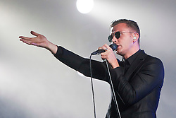 Hurts singer Theo Hutchcraft play the King Tut's Wah Wah Tent..T in the Park on Sunday 10th July 2011. T in the Park 2011 music festival takes place from 7-10th July 2011 in Balado, Fife, Scotland..©Pic : Michael Schofield.