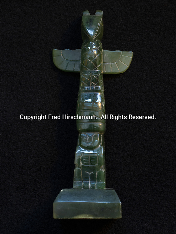 Jade totem pole, collection of Ellen Lehman and Charlie Kennel.
