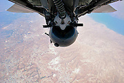 """Cockpit Selfies Snapped While Airmen Tear Through the Skies<br /> <br /> Jet fighter pilots around the globe have elevated the selfie phenomenon to astonishing new heights – quite literally. Armed with photographic equipment such as GoPro cameras and fisheye lenses, they've been able to capture dramatic images of themselves on the job – sometimes mid-maneuver or with a stunning backdrop thrown in for good measure. But rather than simply pointing and shooting, these pilots and other flight crew have proven themselves skilled photographers – which is pretty amazing given that they often have a fair few other buttons to press, too.<br /> <br /> Photo shows; This superb self-portrait is particularly notable given the apparent paucity of photos showing aviators released by the Israeli Defense Forces. Still, while the identity of the airman in shot is unspecified, we do know that the image features an Israeli Air Force F-15I – the """"I"""" denoting Israel – initiating a hair-raising upside-down ascent. The golden terrain below is that of Samaria and Judea, while a section of the Dead Sea can also be seen beneath the backseat pilot's right shoulder.<br /> ©Israeli Defense Forces/Exclusivepix Media"""