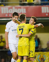 The players of Villarreal Vietto and Espinosa celebrates the goal during the match of Uefa Europa League, 3 day. (Photo: Alter Photos / Bouza Press / Maria Jose Segovia)